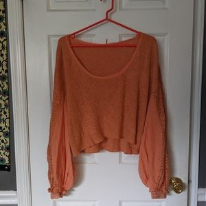 NEW free people cropped long sleeve